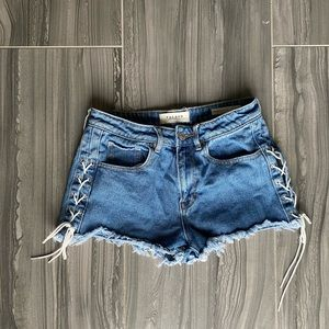 High Rise Pacsun Lace-up Side Shorts